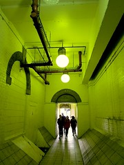 The green corridor (Andy Worthington) Tags: london hungerfordbridge corridors charingcrossstation andyworthington