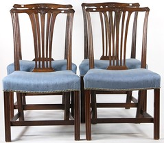 34. Set of (4) Transitional Chairs