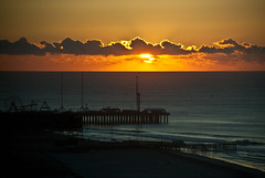 Steel Pier - Gold Sky (Anitab) Tags: ocean sun clouds sunrise amusement pier atlanticcity steelpier atlanticocean gloriousmorning