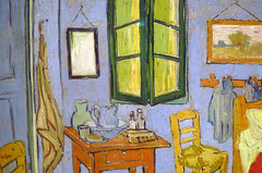 Van Gogh, The Bedroom, detail with window