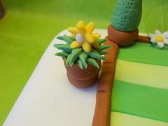 garden theme cake (Cakes by GG NI) Tags: birthday flowers plants cake gardens nanny celebration nana retirement granda