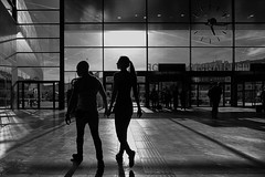 ...two.get.her (ines_maria) Tags: vienna austria sunset woman couple urbanspace citylife blackwhite monochrome love light contast