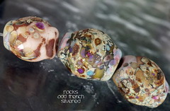 Rocks Odd French Silvered (Laura Blanck Openstudio) Tags: openstudio openstudiobeads glass handmade lampwork beads set murano fine arts art artist artisan whimsical funky odd rocks faceted nuggets pebbles stones colorful multicolor abstract asymmetric organic earthy raku frit speckles made usa transparent ocher pink rose copper green brown honey toasted lilac lavender purple eggplant grape violet maroon silver silvered leaf matte opaque glow frosted
