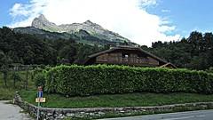 Passy (AmyEAnderson) Tags: summit peak mountain mountaintop cliff passy france europe hautesavoie alps mountainside hillside chalet hedge street trees