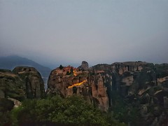 Monastery of Great Meteoro (Petrovski I) Tags: greece meteora monastery sunrise