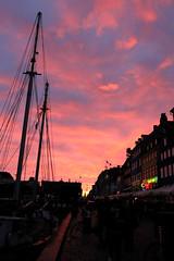 Amazing sunset in Copenhagen (LaDani74) Tags: denmark danmark copenhagen nyhavn boat summer