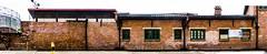Cattle Depot Artist Village (Kai-Ming :-))) Tags: kaiming kmwhk hongkong cattledepotartistvillage wall brickwall redbrick brick panaorama sony artistvillage window poster historicalsite mataukok mataukokroad dscrx100m4