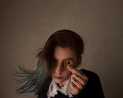 """The other world with a new perspective"" (Adi Korndrfer) Tags: selfportrait coraline neilgaiman literaryweek coralineweek justbecauseilove 366project fineart fujifilm conceptual"