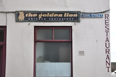 The golden Lion (langustefonts) Tags: fife scotland east neuk letters shopfronts silla golden chinese restaurant