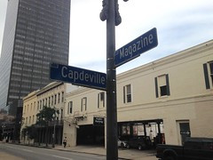 Magazine at Capdeville (Jay Bienvenu) Tags: streetsign neworleans centralbusinessdistrict downtown