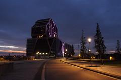 Gerechtshof Hasselt (nikjanssen) Tags: gerechtshofhasselt bluehour avond evening architecture jrgenmayer