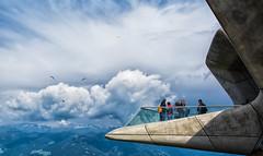 Balcone sulle nuvole (Agnolo) Tags: d7100 nikon 1685 nikkor messner mountain museum corones plandecorones balcone clouds landscape sky paraglide parapendio