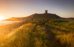 Fortress of Light (Tracey Whitefoot) Tags: tracey whitefoot 2016 summer northumberland north east coast coastal dunstanburgh castle dawn morning sunrise