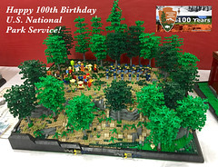 Gettysburg National Military Park (Gary^The^Procrastinator) Tags: nationalparkservice 100thanniversary lego diorama model trees gettysburg foliage landscape display nps
