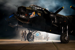 4984_Lancaster (Rob Ferrol) Tags: lancaster bomber aircraft historic iconic heavy wwii world war two royal air force raf command east kirkby lincolnshire airfield night moody atmospheric evening dusk rob ferrol copyright photographer worksop notts nottinghamshire merlin engines four restoration period bird flight crew uniform aircrew misty evocative dark reminiscent