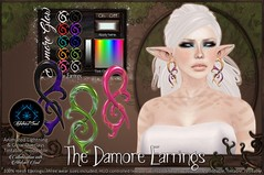 :[P]: + [-AS-] - The Damore Earrings (Abstract Soul by Methias Kira) Tags: fantasy spell magic energy light art surreal kaleidoscope abstractsoul as abstract secondlife methias methiaskira plastik theplastik thefantasycollective jewelry earrings animated sl event