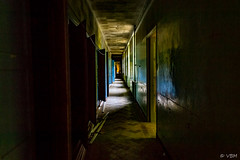 CHM 1 ( temps partiel) Tags: sanatorium abandoned urbex exploration coridor hall decay colors lights blachandwhite corridor indoor forgotten