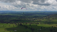 Gwen in the morning thermals (overflow50) Tags: paragliding paraglider canberra spring springhill sky clouds