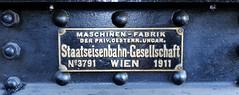 Railway_Museum_02 (rhomboederrippel) Tags: rhomboederrippel fujifilm xe1 august 2016 austria loweraustria strasshof nordbahn heizhaus museum eisenbahn railway railroad austrian historic europe dampflok steamengine sign type number silberwald
