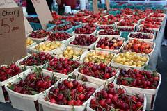 Cherries (meg williams2009) Tags: newyork nyc unionsquaregreenmarket cherries caradonnafarm marketdisplay sourcherrie unionsquaregreenmarketnyc vegetables organicproduces meats poultry fruits