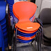 Chrome frame chair orange