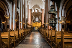 2016 - Baltic Cruise - Roskilde - UNESCO Cathedral 2 (Ted's photos - For Me & You) Tags: 2016 balticcruise tedmcgrath tedsphotos roskilde roskildedenmark denmark unesco unescoworldheritagesite church pews aisle seating seats arches