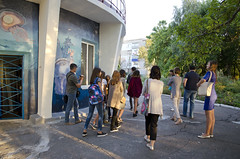Street art. (KireevI) Tags: cultures arts wall image urban building colors street life feature lifestyles paint painted creativity paintings colored abstract modern men activity mural person freedom painter women