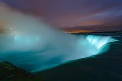 Niagara at Night (James L Davidson) Tags: reflections photowalkthisway waterfall slowshutter niagarafalls niagara 500px globalphotowalk gpw2016 redbull longexposure sunset niagarariver