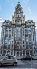 The ultimate welcome (alun.disley@ntlworld.com) Tags: royalliverbuilding liverbirds architecture building clocks weather traffic cars roads city citycenter northwestengland liverpool merseyside england uk windows panorama