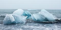 Arctic sea (loddeur) Tags: ijsland jokulsarlon iceland ice sea ijsschots longexposure filter nd8 zee coast black sand wave splash seascape