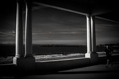 seaside run (rich lewis) Tags: mono monochrome blackandwhite seaside run welshcoast streetphotography richlewis