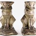 2015. Pair of Silvered Art Deco Cat Bookends