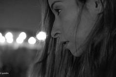 282/365  here, there, somewhere... (pukilin) Tags: city portrait bw selfportrait night 35mm mouth outside nose lights luces noche exterior bokeh perfil retrato profile ciudad lips nighttime citylights labios autorretrato mirada nariz denoche project365 nikond3100