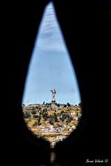 Una Lagrima Por Ecuador - A Tear for Ecuador (Bernai Velarde-Light Seeker) Tags: america canon quito ecuador basilica south sur panecillo velarde pichincha bernai eos50d bernaivelarde
