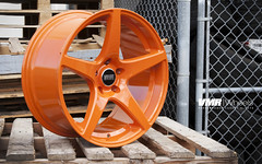VMR Wheels | Rally Orange V705 (VMR Wheels) Tags: orange vw bmw audi vmr aftermarket 705 powdercoating powdercoat 5spoke v705 velocitymotoring vmrwheels rallyorange