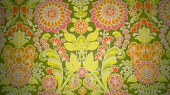 Wallpaper 70s (Ankar60) Tags: old wallpaper orange flower green yellow vintage design power sweden interior swedish 70s sverige 1970s blommor svensk 70tal interir tapet blommig