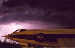 F-104 Lightning (blahblablity) Tags: arizona night clouds 35mm purple pentax slide nasa lightning prescott f104 superprogram