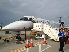 The Embraer 145 we flew on at Houston