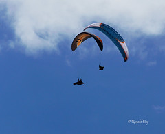Paragliders ~Sam Crater and Mike Jobin Working a Thermal~ (Ron1535) Tags: golden colorado wing sail roll pitch paragliding soaring glider lookoutmountain thermals mtzion yaw freeflight freeflyer flexiblewing glideraircraft soaringaircraft ramairdesign