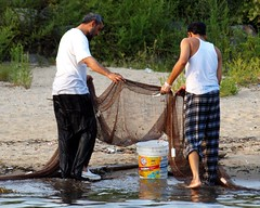 Seine Fishing in the East River, Barretto Point Park, Bronx, New York City (jag9889) Tags: park city nyc ny