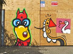 Schuttingtaal d (Akbar Sim) Tags: streetart holland netherlands graffiti nederland denhaag kabouter thehague schuttingtaal vandestraat kbtr utrechtsekabouter akbarsimonse akbarsim