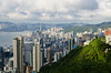 Victoria Peak (andreaskoeberl) Tags: china city travel light sunset green architecture clouds hongkong harbor nikon asia downtown overcast hong kong thepeak victoriapeak d7000 nikond7000 andreaskoeberl