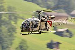 Aérospatiale Alouette 2 (Sébastien Locatelli) Tags: 2 nikon force swiss air bleu di alouette 70300mm tamron stephan vc berner usd 2012 sankt luftwaffe simmental hunterfest aérospatiale d5000