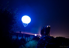 we are connected (OR_U) Tags: uk light art festival night balloons event installation zachary hadrianswall lieberman 2012 birdoswald yesyesno connectinglight