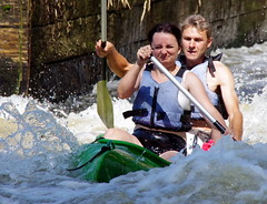 24.7.12 Vyssi Brod Weir 1 089 (donald judge) Tags: river kayak republic czech south canoe raft bohemia vltava brod weir vyssi