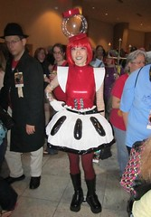 Tom Servo costume - from MST3K (Krakitt) Tags: costumes red woman cute mystery tom lady gum robot costume theater dragon cosplay machine science wig bubble servo 3000 con gumball dragoncon mst3k 2012 mst 3k
