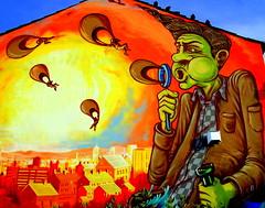 New mural in Preston (4) (Tony Worrall) Tags: street urban streetart building art wall corner graffiti big mural paint artist northwest painted tag large spray lancashire streetartist huge preston adelphi moot teaone prestonian reasm ©2012tonyworrall