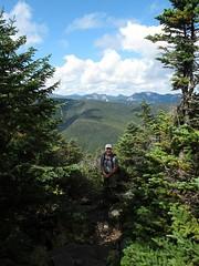 Climbing Dix 1209012167w (gparet) Tags: trees mountain mountains nature forest outdoors high woods hiking scenic trails adirondacks vista peaks dix adirondacksstatepark