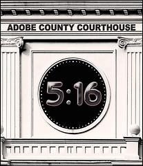 Courthouse Clock (Cliff Michaels) Tags: clock photoshop nikon courthouse d5000 pse9