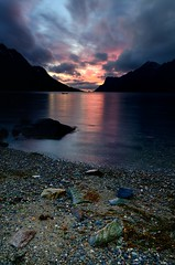 Evening in Ersfjordbotn (John A.Hemmingsen) Tags: longexposure sunset seascape colors clouds landscape nordnorge troms ndfilter blackcard ersfjordbotn nikkor1685dx nikond7000